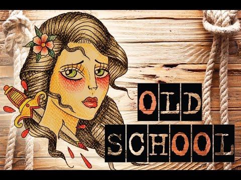 1 dessiner un tatouage old school youtube - Dessin new school ...