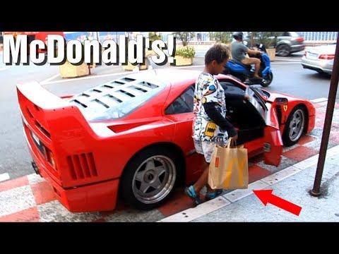 Aller au McDo en FERRARI F40 à Monaco!