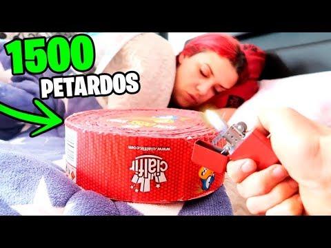 EXPLOTO 1500 PETARDOS A PATTY MIENTRAS DUERME!! *CASI QUEMO LA CASA* BROMA MUY PESADA Makiman