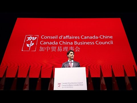 Prime Minister Trudeau addresses the Canada China Business Council in Shanghai