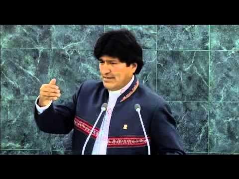 Evo Morales, President of Bolivia, UN, 2013