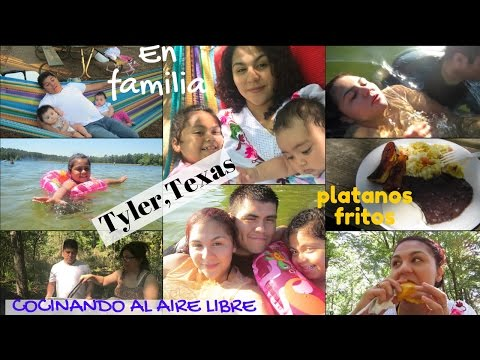 Desayuno salvadoreño 🇸🇻 🍌   fin de semana en la laguna de Tyler,Texas - VLOG