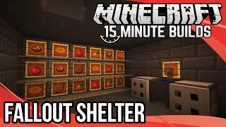 Minecraft 15-Minute Builds: Fallout Shelter