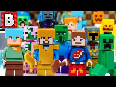 every-lego-minecraft-minifigure-ever-made!!!-+-all-critters-|-collection-review