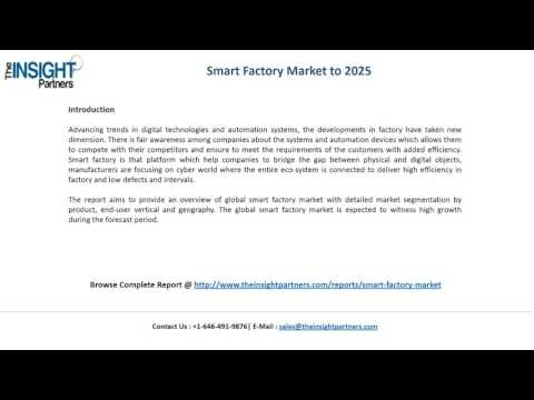 Smart Factory Market Share, Size, Forecast and Trends by 2025 |The Insight Partners