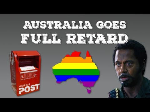 Australia Goes Full Retard - Gay Marriage Postal Vote