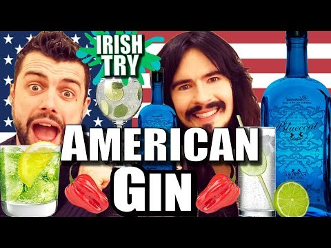 Irish People Taste Test 'AMERICAN GIN' + Ghost Pepper Challenge!!