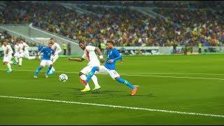 Neymar & Coutinho Goals - Brazil vs Costa Rica FIFA World Cup - PES 2018
