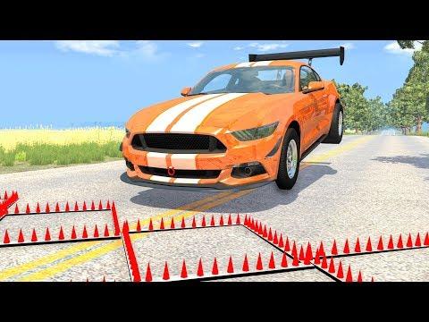 Massive Spike Strip Pileup Crashes #51 – BeamNG Drive | CrashBoomPunk