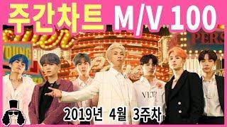 주간차트 4월 3주차 금주의 KPOP 아이돌 뮤직비디오 순위 100  2019년 4월 21일  와빠TV