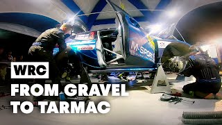 How To Change A Rally Car From Gravel Spec To Tarmac With M-Sport | WRC 2019