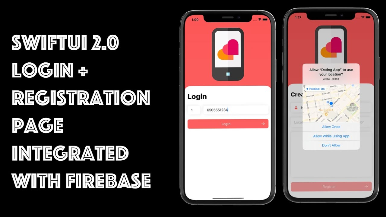 How To Build Full Login + Registration Page With Firebase Using SwiftUI 2.0