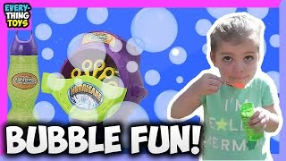 Playing with Bubbles Unboxing Gazillion Bubble Hurricane | Everything Toys kids video