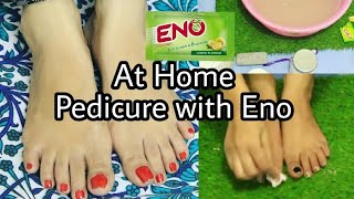 DIY: 2 Step Easy Eno Pedicure at home | How To Do Simple Pedicure