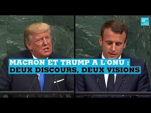 Macron et Trump à l'ONU : deux discours, deux visions