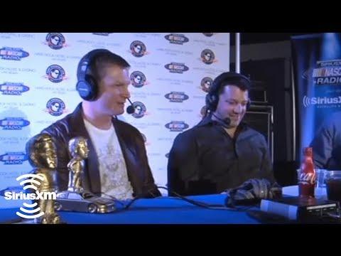 "Dale Earnhardt Jr to Tony Stewart ""you were really hard to pass"" // 2011 Stewie Awards  // SiriusXM"