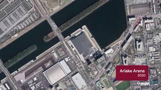 Tokyo Olympics-related Venues: Aerial & Satellite Timelapse