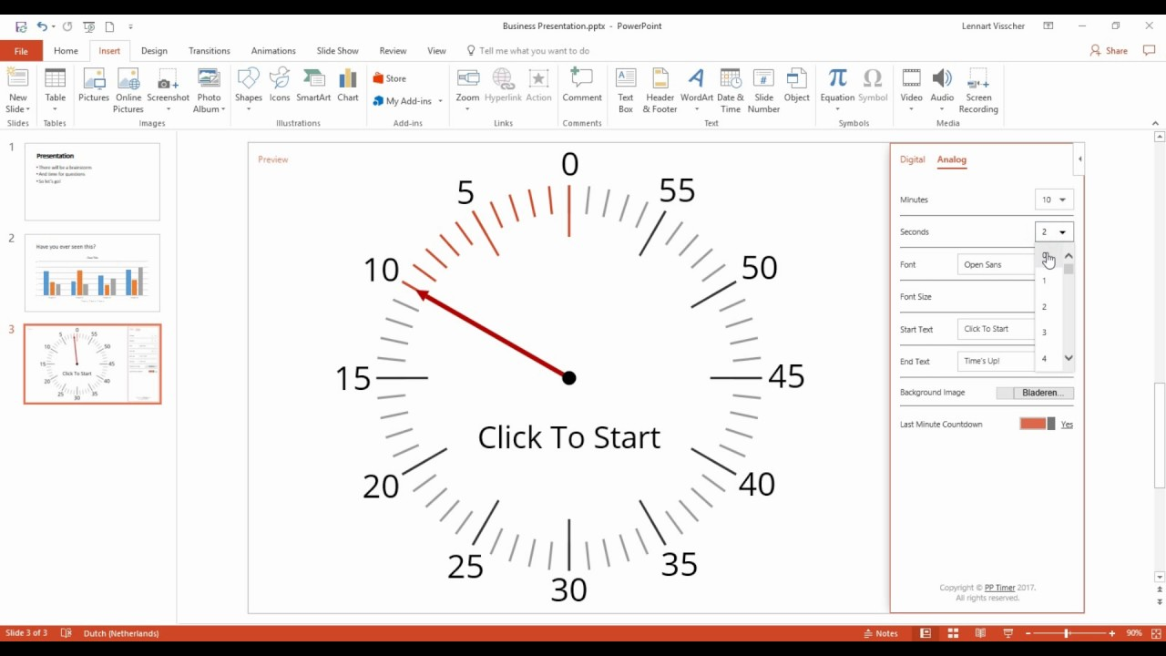 82e4b78ea19b Timer for PowerPoint  insert PP Timer into your slide - YouTube