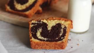 Cake marbré chocola / vanille, moelleux et délicieux