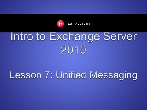 Exchange Server 2010 Unified Messaging
