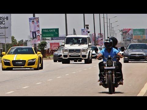 SUPERCARS INDIA - Independence Day Drive 2016 (Bangalore, India)