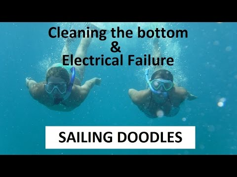 Girls Clean the hull & an Electrical Failure - Boat Maintenance Monday