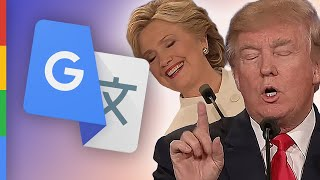 Trump & Clinton | Präsidentschaftsdebatte (Google Übersetzt) - PARODIE