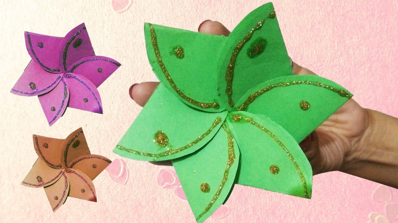 flower envelope card make at home diy  youtube