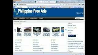 Philippine Free Ads - How to Register New User