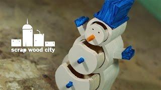 DIY bandsaw snowman box