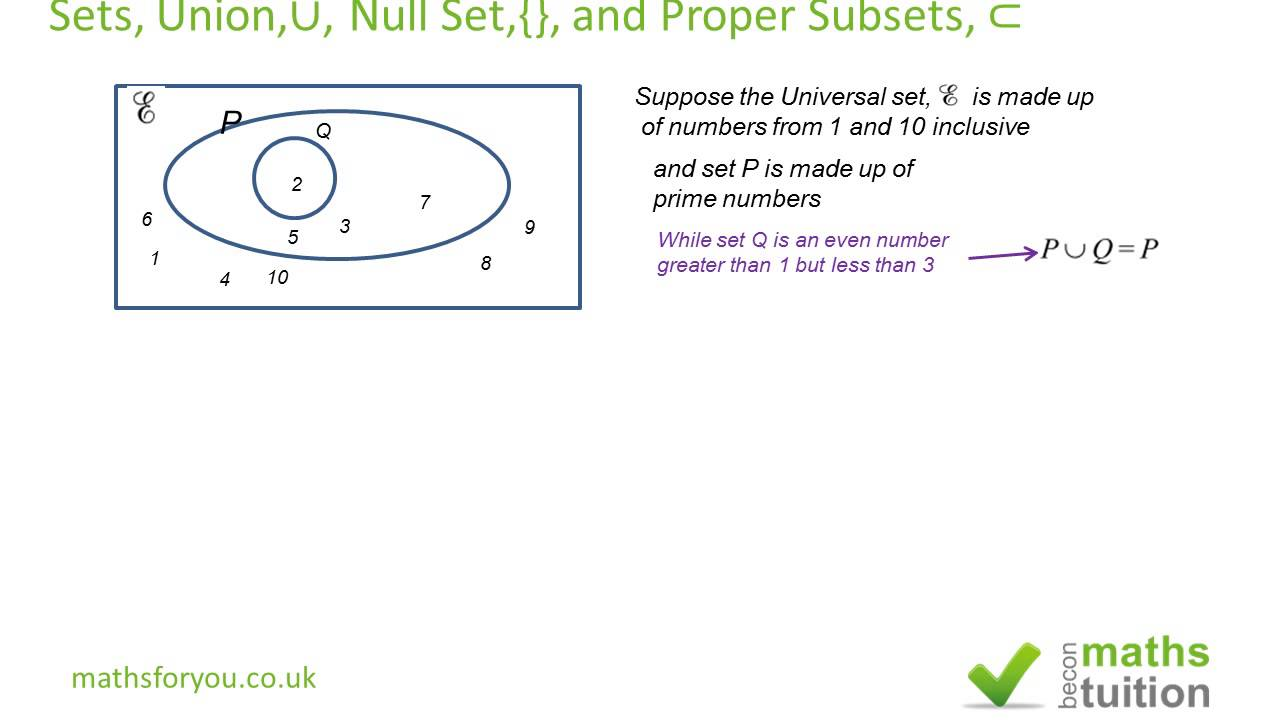 Sets union null set and proper subset part 2 youtube sets union null set and proper subset part 2 ccuart Image collections