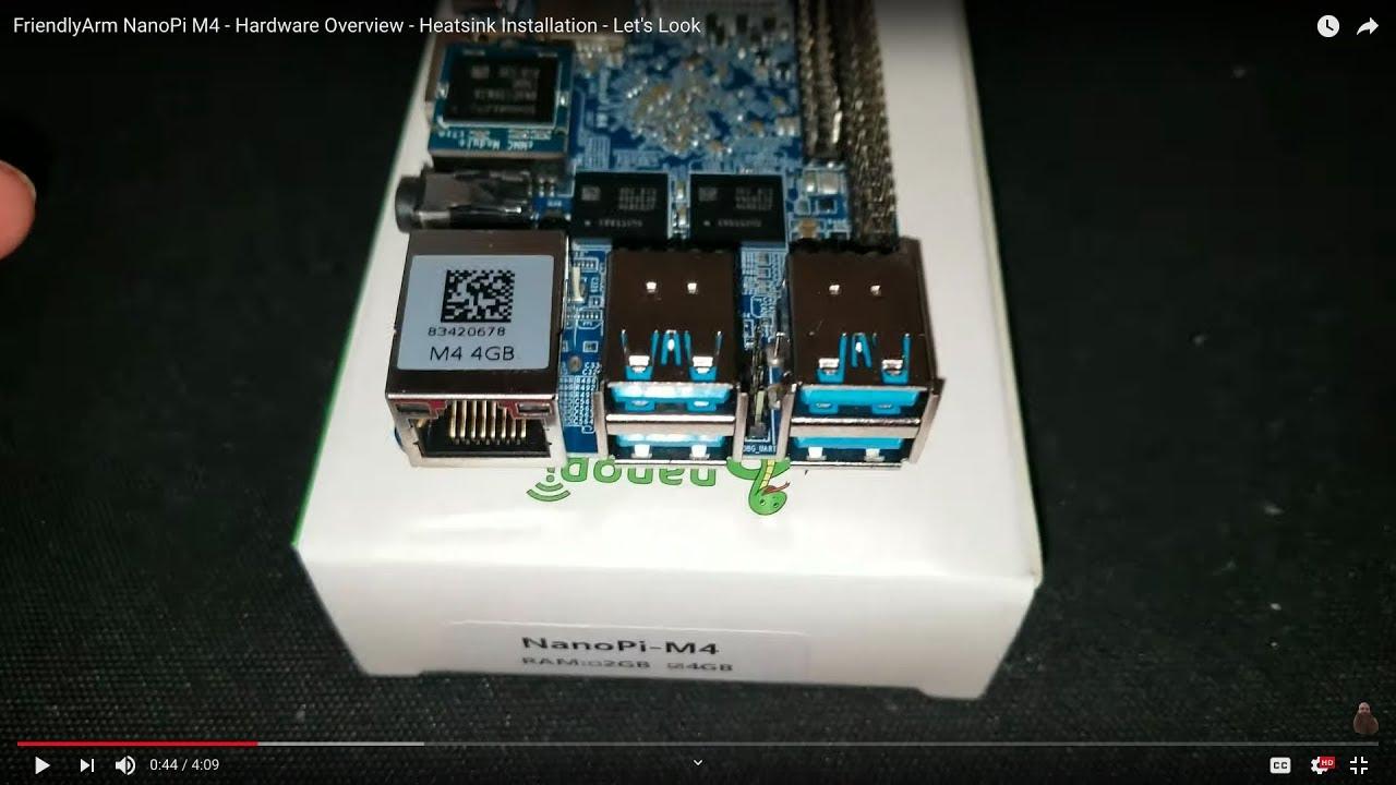 FriendlyArm NanoPi M4 - Hardware Overview - Heatsink Installation - Let's  Look