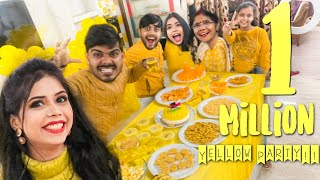 1 MILLION Subscribers Everything YELLOW Party!! *yellow food, decoration, outfit* 💃💛