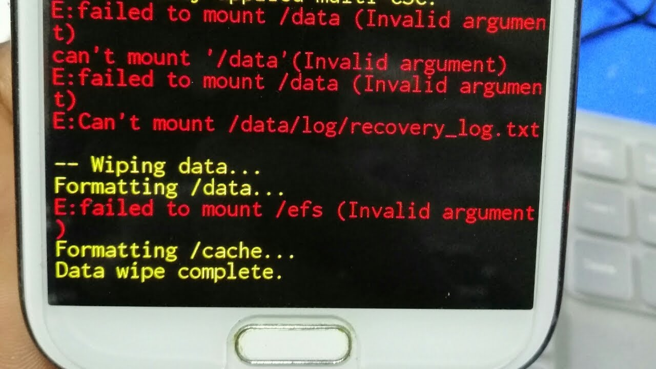 E:failed To mount /efs (invalid Argument (Any Samsung )