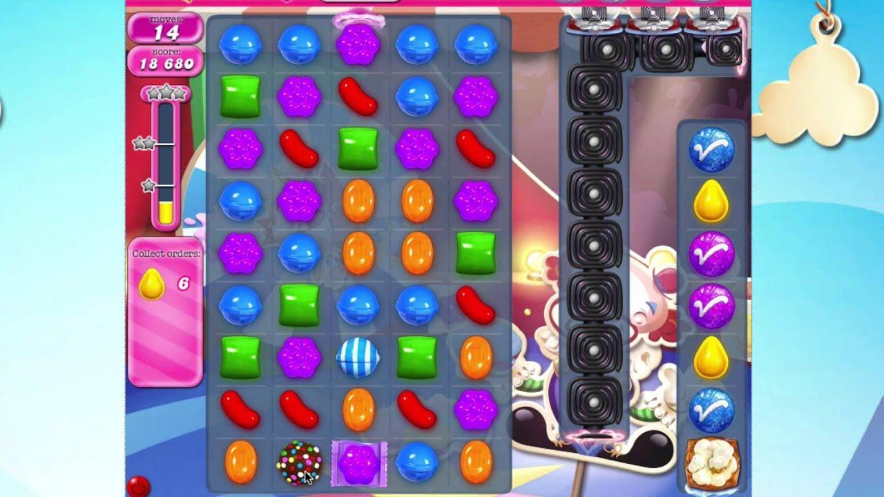 Candy Crush Saga Level 1385 No Booster - YouTube