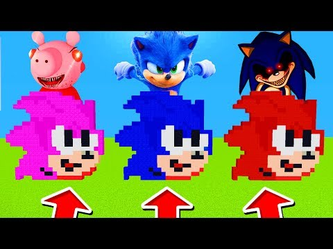 Minecraft PE : DO NOT CHOOSE THE WRONG SONIC! (Scary Sonic, Piggy & Sonic)