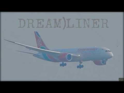 KENYA AIRWAYS BOEING 787 DREAM)LINER Landing at Mumbai International Airport