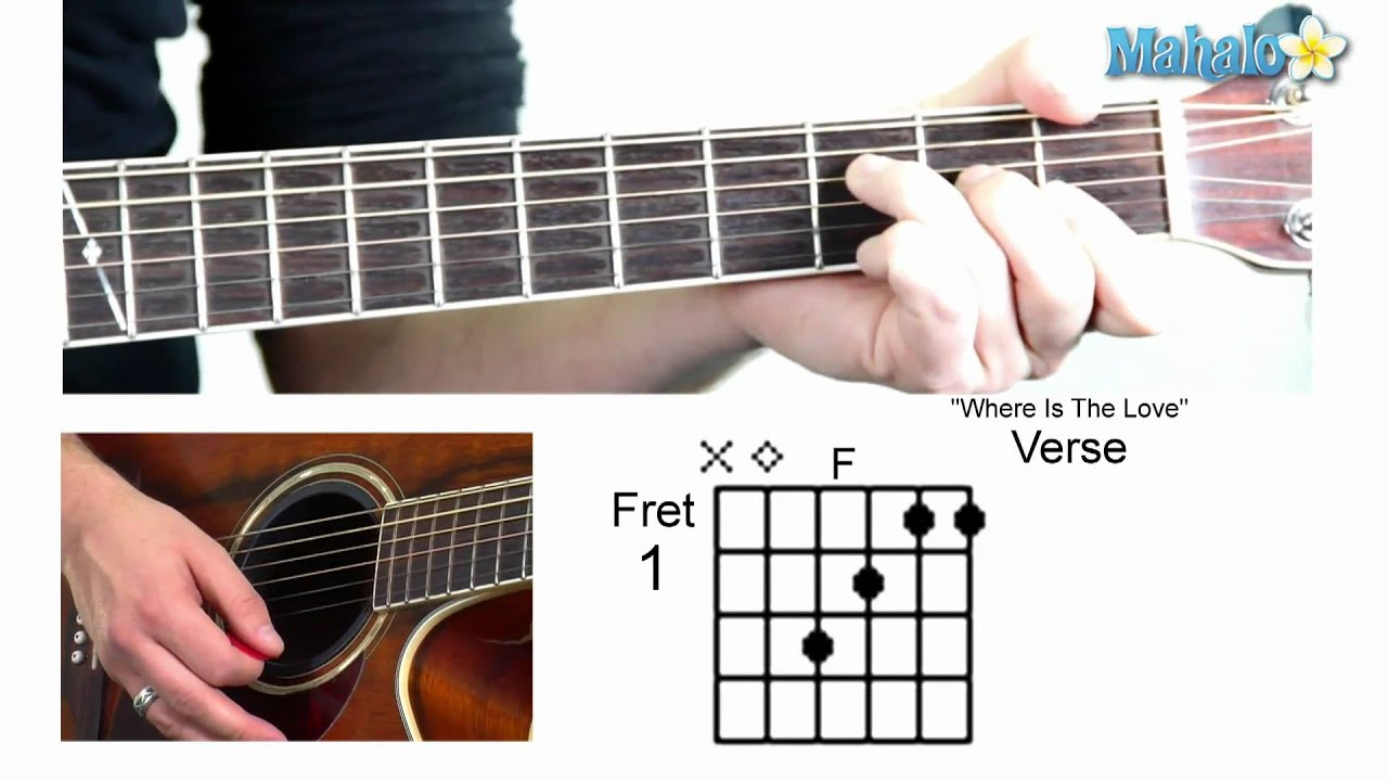 How to play where is the love by the black eyed peas on guitar how to play where is the love by the black eyed peas on guitar hexwebz Images