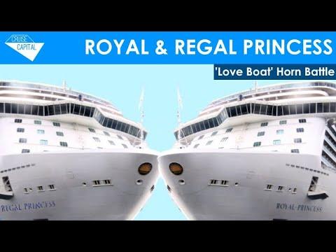 Royal Princess & Regal Princess 'Love Boat' Horn Battle