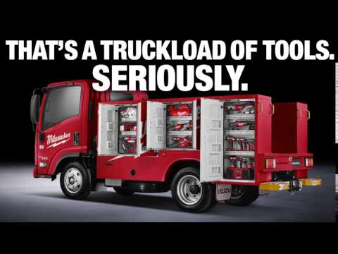 WIN A CUSTOM ISUZU LOADED WITH $10,000 WORTH OF MILWAUKEE TOOLS.