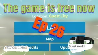 Roblox Guest World Ep 26 Guest World is now FREE New Twitter Code!!!