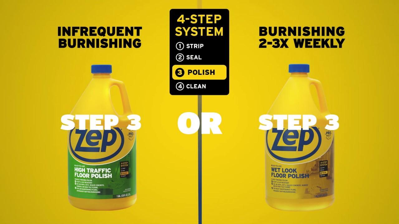 Zep High Traffic Floor Polish Step 3 Option
