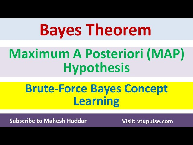 Naive Bayes Theorem | Maximum A Posteriori Hypothesis | MAP Brute Force Algorithm by Mahesh Huddar