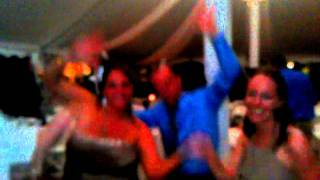drunk friends dancing at a wedding in new albany ohio