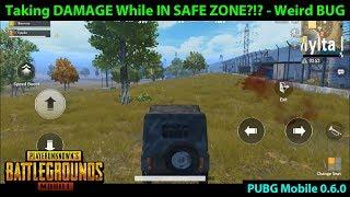 Inside SAFE ZONE but TAKING DAMAGE?!?!? | Weird PUBG Mobile 0.6.0 BUG /  GLITCH