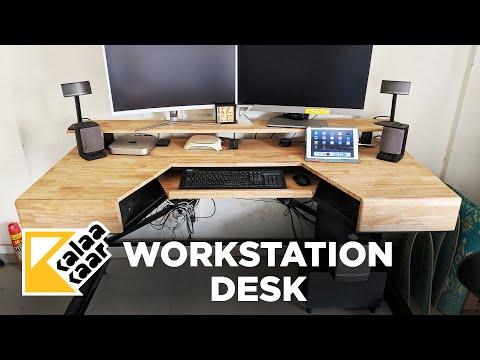 Ultimate Metal + Wood Workstation Desk