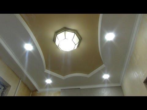Натяжные потолки для зала фото