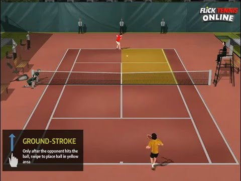 Flick Tennis Online iOS HD Gameplay