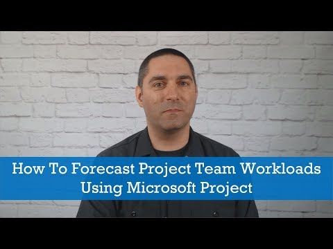 Project Management Tips: How To Forecast Project Team Workloads Using Microsoft Project