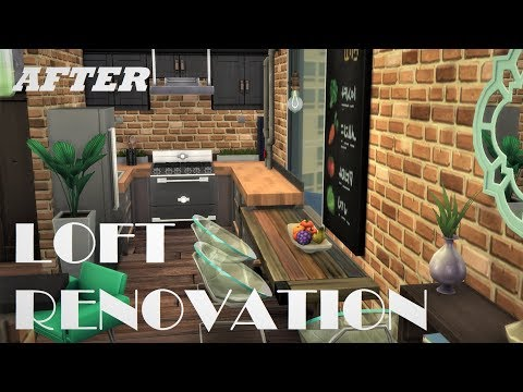 The Sims 4: RENOVATION // INDUSTRIAL LOFT // SPEED BUILD